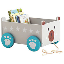 Buy Great Little Trading Co Mr Bear Book Storage Box Cart Online at johnlewis.com