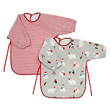 Buy John Lewis Baby Polar Bear Terry Bibs, Pack of 2 Online at johnlewis.com