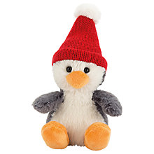 Buy Jellycat Poppet Baby Penguin Soft Toy, Tiny, Grey Online at johnlewis.com