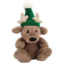 Buy Jellycat Poppet Baby Reindeer Soft Toy, Tiny, Brown Online at johnlewis.com