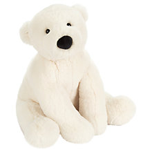 Buy Jellycat Perry the Polar Bear Soft Toy, White Online at johnlewis.com
