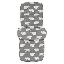 Buy John Lewis Baby Polar Bear Pushchair Footmuff, Grey Online at johnlewis.com