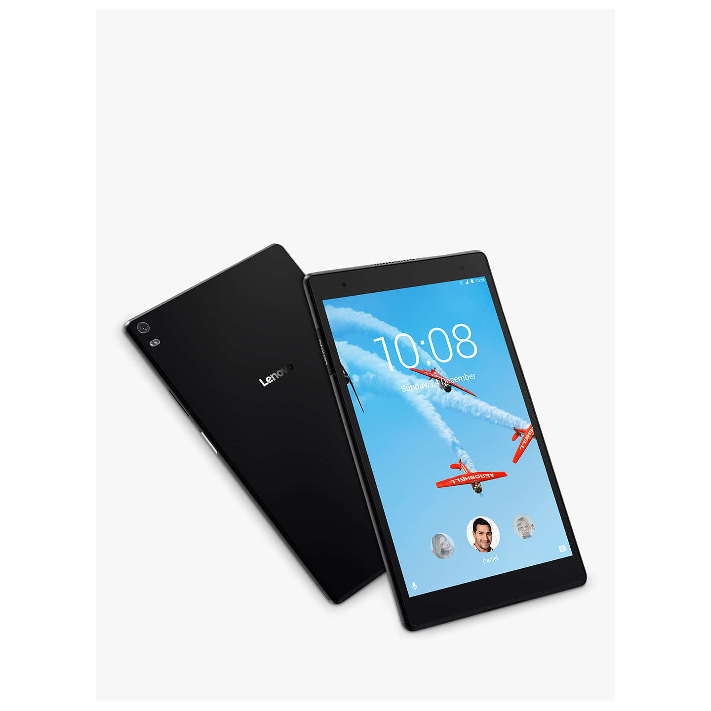 "BuyLenovo Tab 4 Plus Tablet, Android, Wi-Fi, 3GB RAM, 16GB, 8"" Full HD, Aurora Black Online at johnlewis.com"