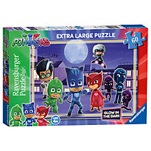 Buy Ravensburger PJ Masks 60 Piece Glow In The Dark Jigsaw Puzzle Online at johnlewis.com