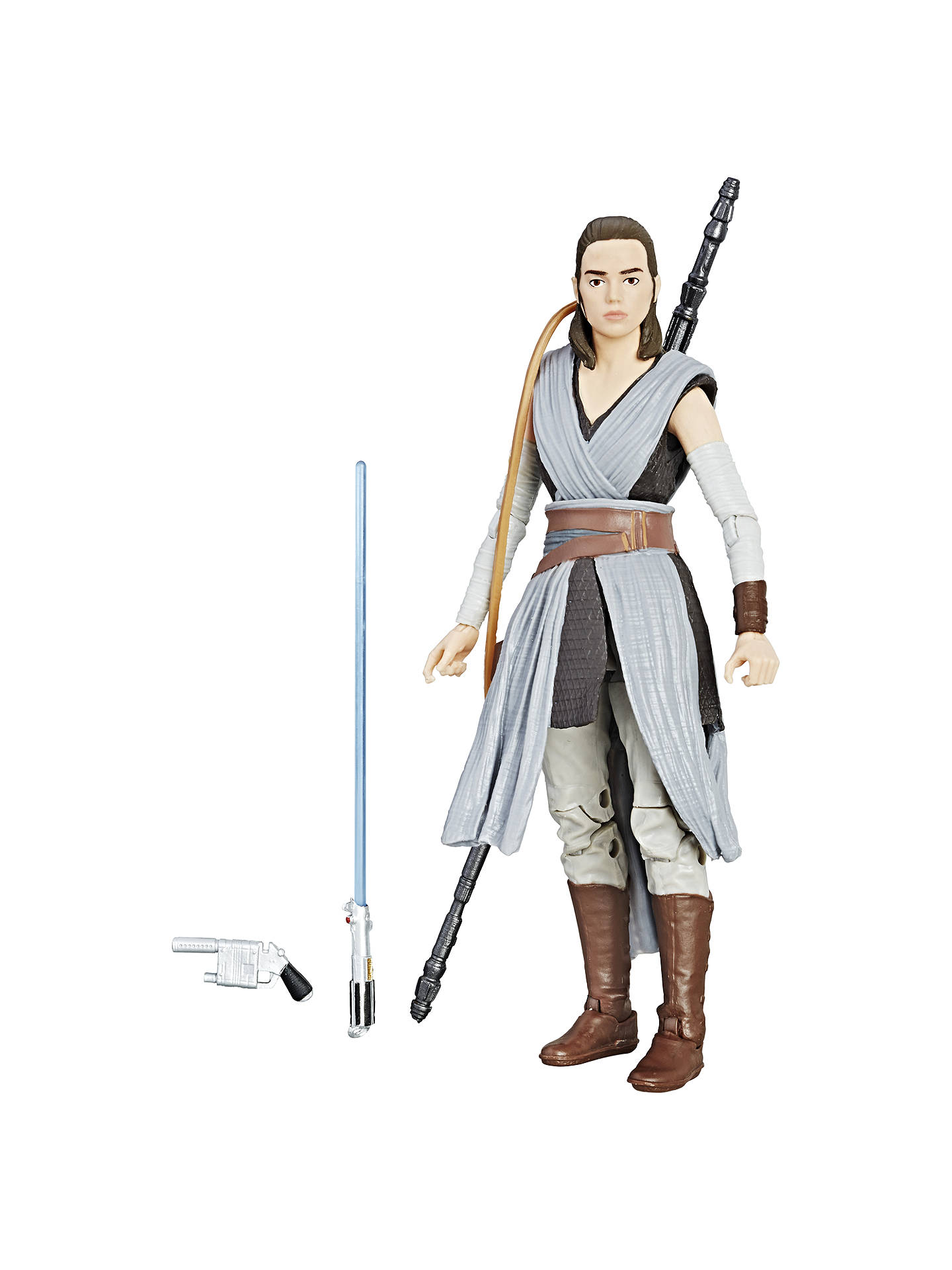 Star Wars The Last Jedi Black Series Rey Training Action Fiction Blouse With Obi Off White Buystar Figure Online At