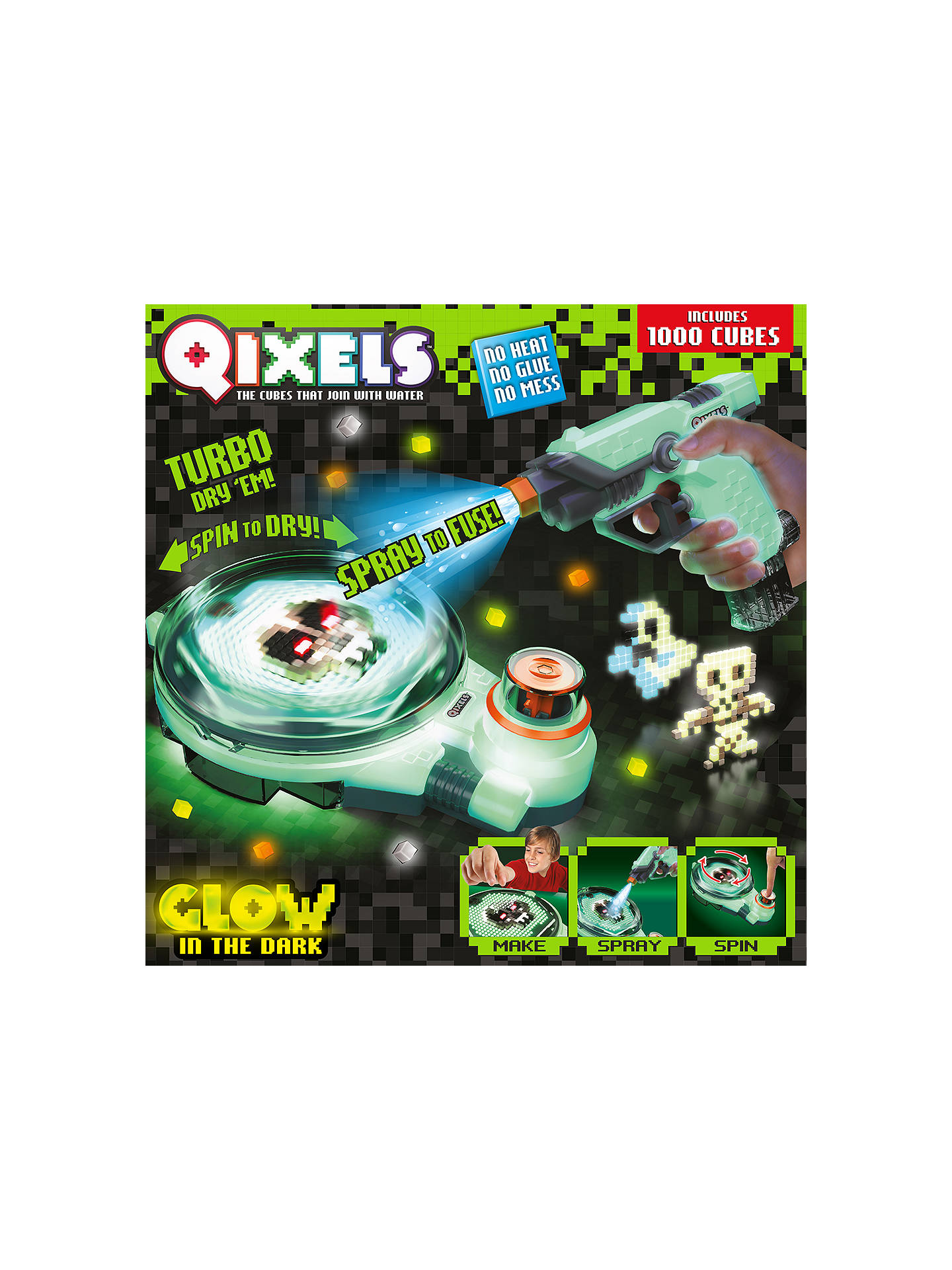 BuyQixels Glow In The Dark Fuse N Dry Combo Pack Online at johnlewis.com
