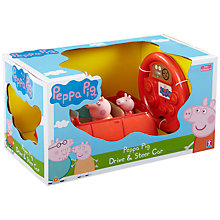 Buy Peppa Pig Drive And Steer Toy Online at johnlewis.com