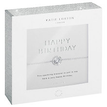 Buy Katie Loxton Cubic Zirconia Happy Birthday Bracelet, Silver Online at johnlewis.com