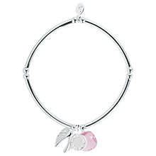 Buy Joma Story Guardian Angel Crystal Charm Bracelet, Silver/Pink Online at johnlewis.com