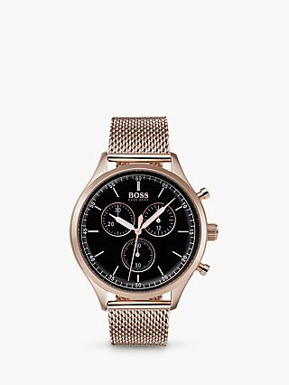 HUGO BOSS Men's Companion Chronograph Bracelet Strap Watch