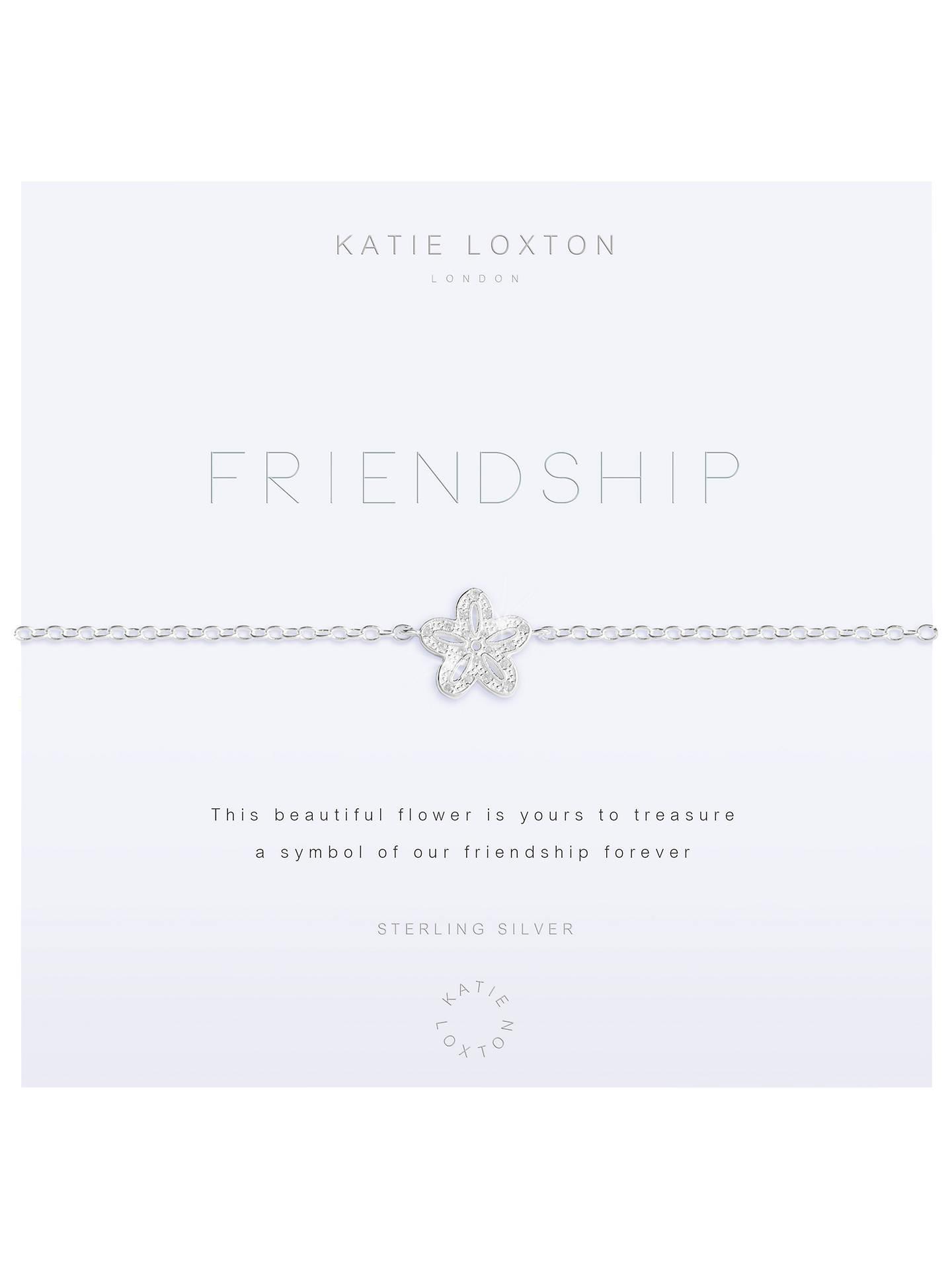 84be620a81d7b Katie Loxton Friendship Flower Chain Bracelet, Silver