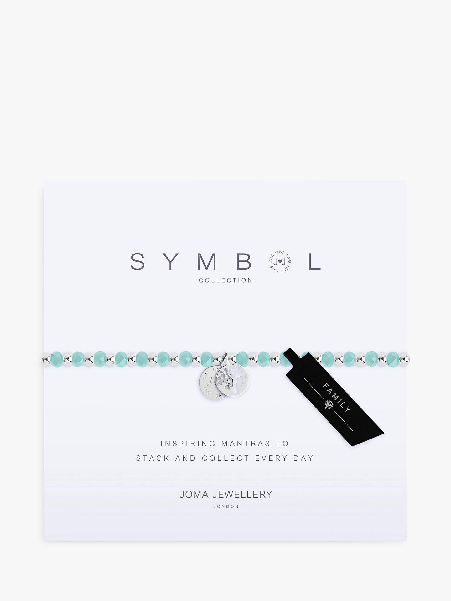 e93d90cadc Buy Joma Jewellery Symbol Family Charm Bracelet, Aqua/Silver Online at  johnlewis.com ...