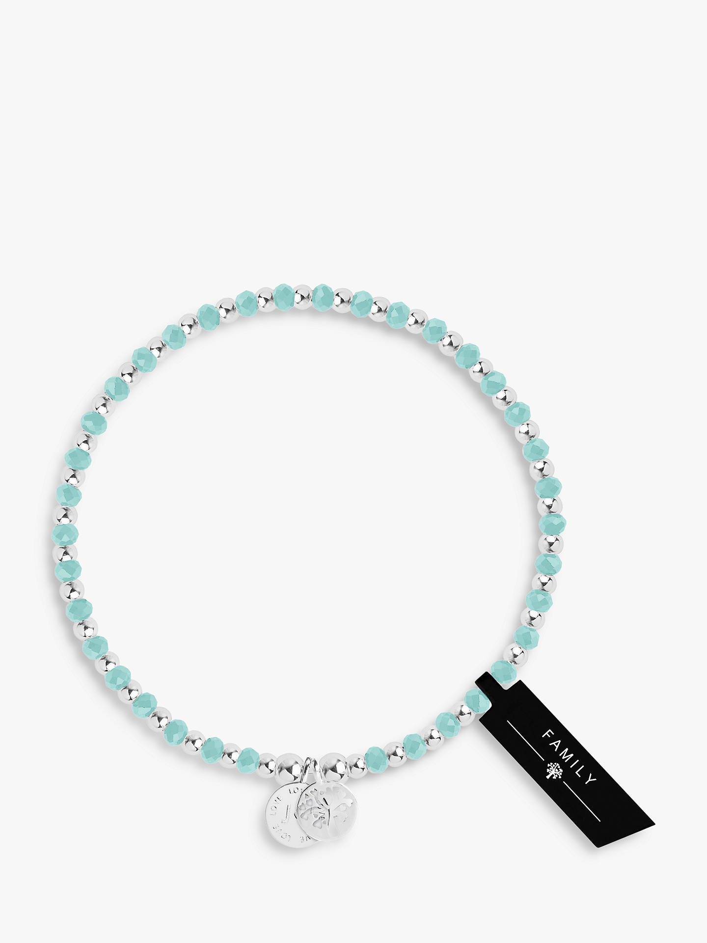 BuyJoma Jewellery Symbol Family Charm Bracelet, Aqua/Silver Online at johnlewis.com