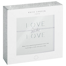 Buy Katie Loxton Love Charm Chain Bracelet, Silver Online at johnlewis.com