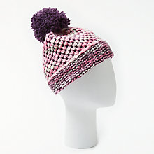 Buy John Lewis Multi Stitch Beanie, Pink Online at johnlewis.com