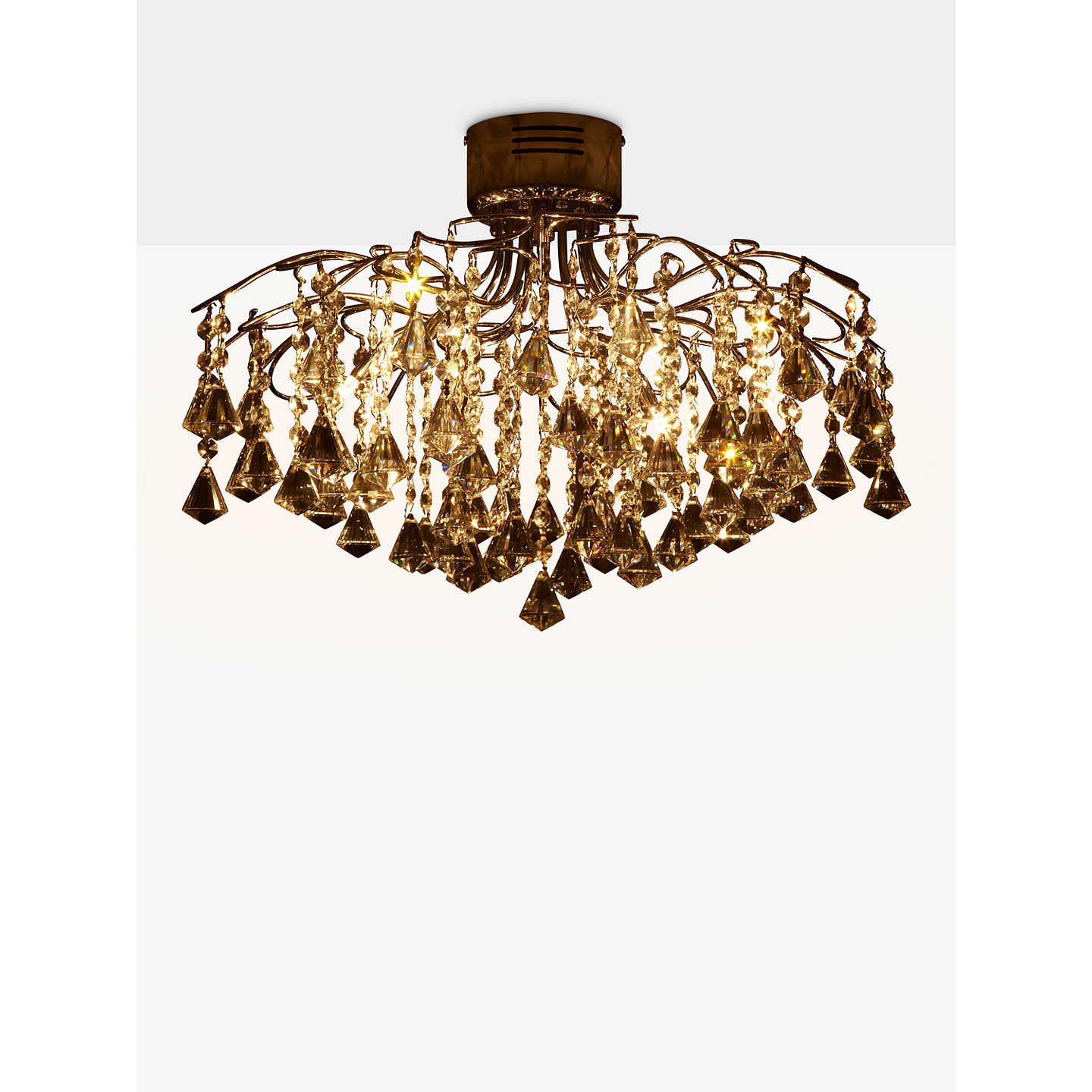 semi roth lowes in mount flush fabric w com light fans pl ceiling earling lighting shop allen lights at