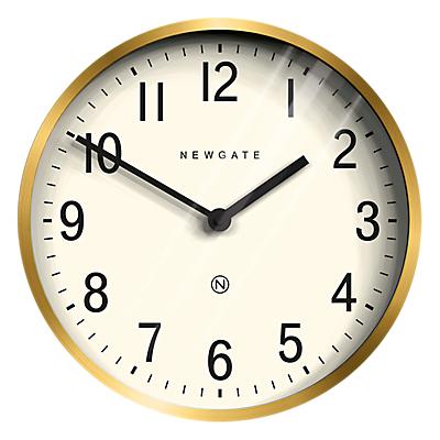 Newgate Master Edwards Wall Clock, Dia.30cm, Radial Brass