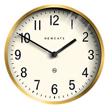 Buy Newgate Master Edwards Wall Clock, Dia.30cm, Radial Brass Online at johnlewis.com
