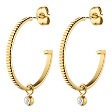 Buy Dyrberg/Kern Swarovski Stud Hoop Earrings Online at johnlewis.com