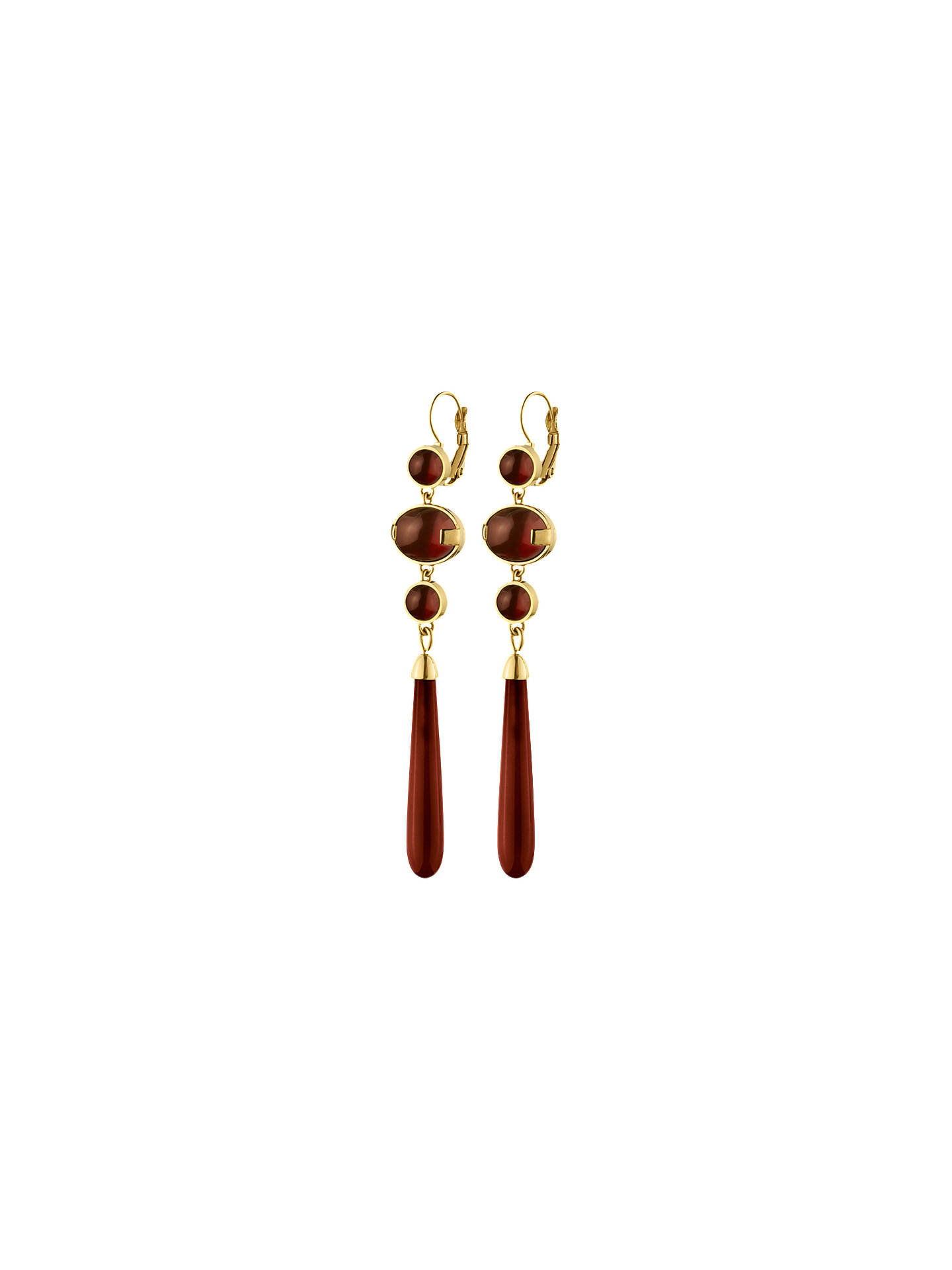 BuyDYRBERG/KERN Lindsey French Hook Earrings, Gold/Red Online at johnlewis.com