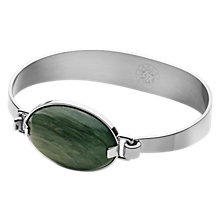 Buy Dyrberg/Kern Delaney Hinged Gemstone Bracelet, Silver/Green Online at johnlewis.com