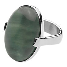 Buy Dyrberg/Kern Retro Gem Cocktail Ring, Green/Silver Online at johnlewis.com