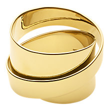 Buy Dyrberg/Kern Louie Sculpture Cocktail Ring, Gold Online at johnlewis.com