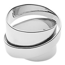 Buy Dyrberg/Kern Louie Sculpture Cocktail Ring, Silver Online at johnlewis.com