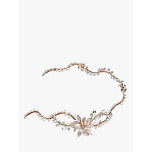 Buy Ivory & Co. Enchanted Freshwater Pearl and Crystal Floral Hair Vine, Rose Gold Online at johnlewis.com