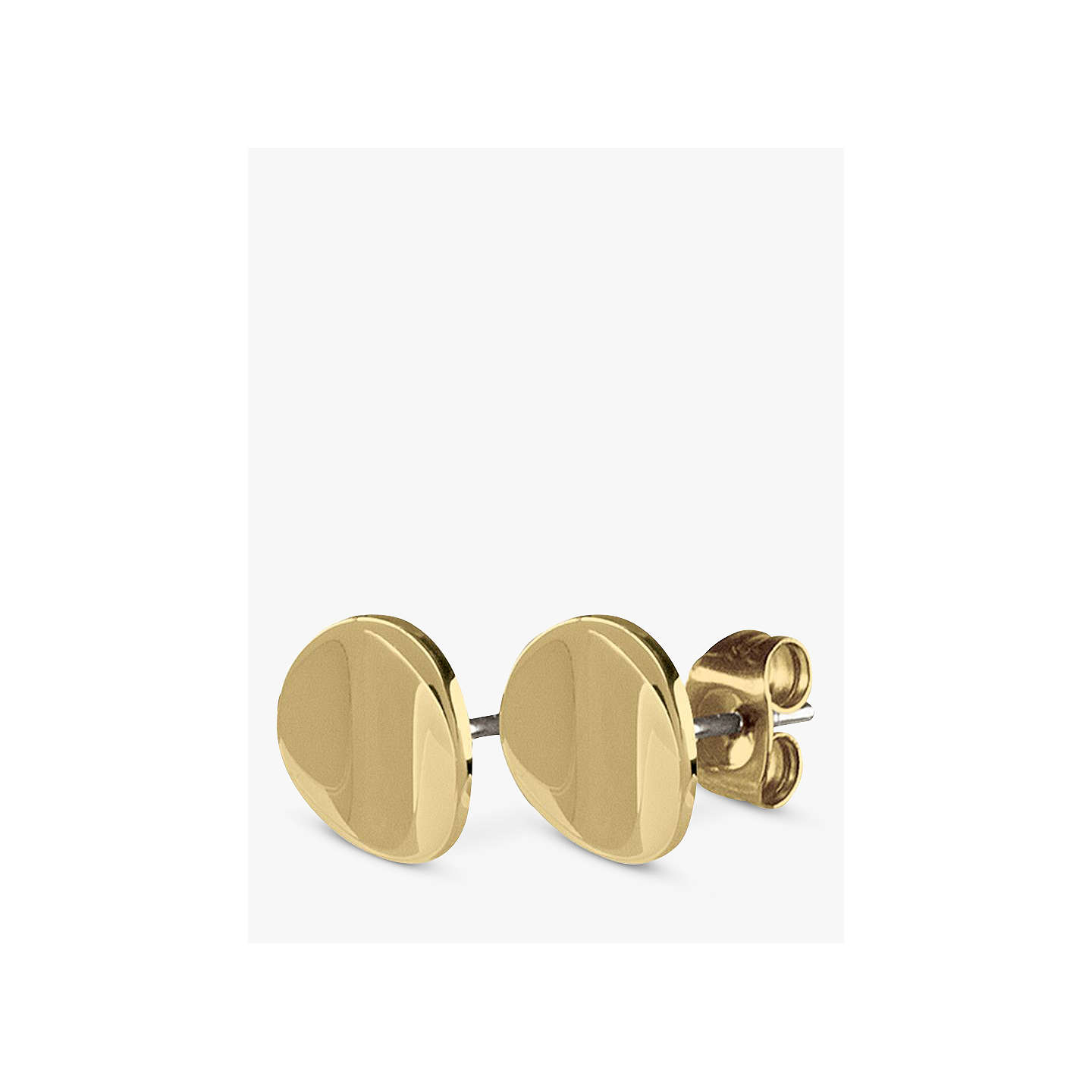 dipped dogeared little things gold earrings studs the compass flat it s stud disc