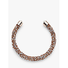 Buy John Lewis Cut Glass Sparkle Open End Bracelet, Rose Gold/Silver Online at johnlewis.com