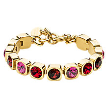 Buy Dyrberg/Kern Swarovski Crystals Tennis Bracelet, Gold/Red Online at johnlewis.com