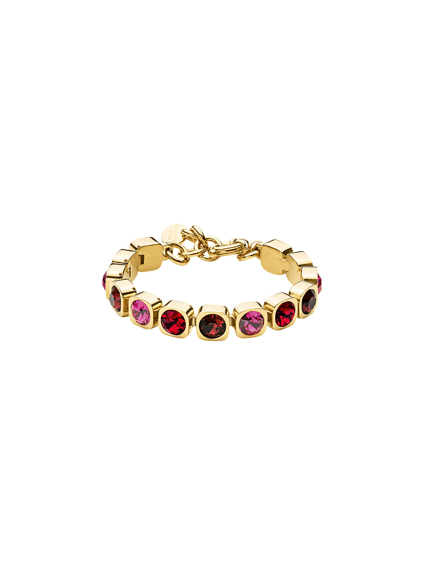 BuyDYRBERG/KERN Swarovski Crystals Tennis Bracelet, Gold/Red Online at johnlewis.com