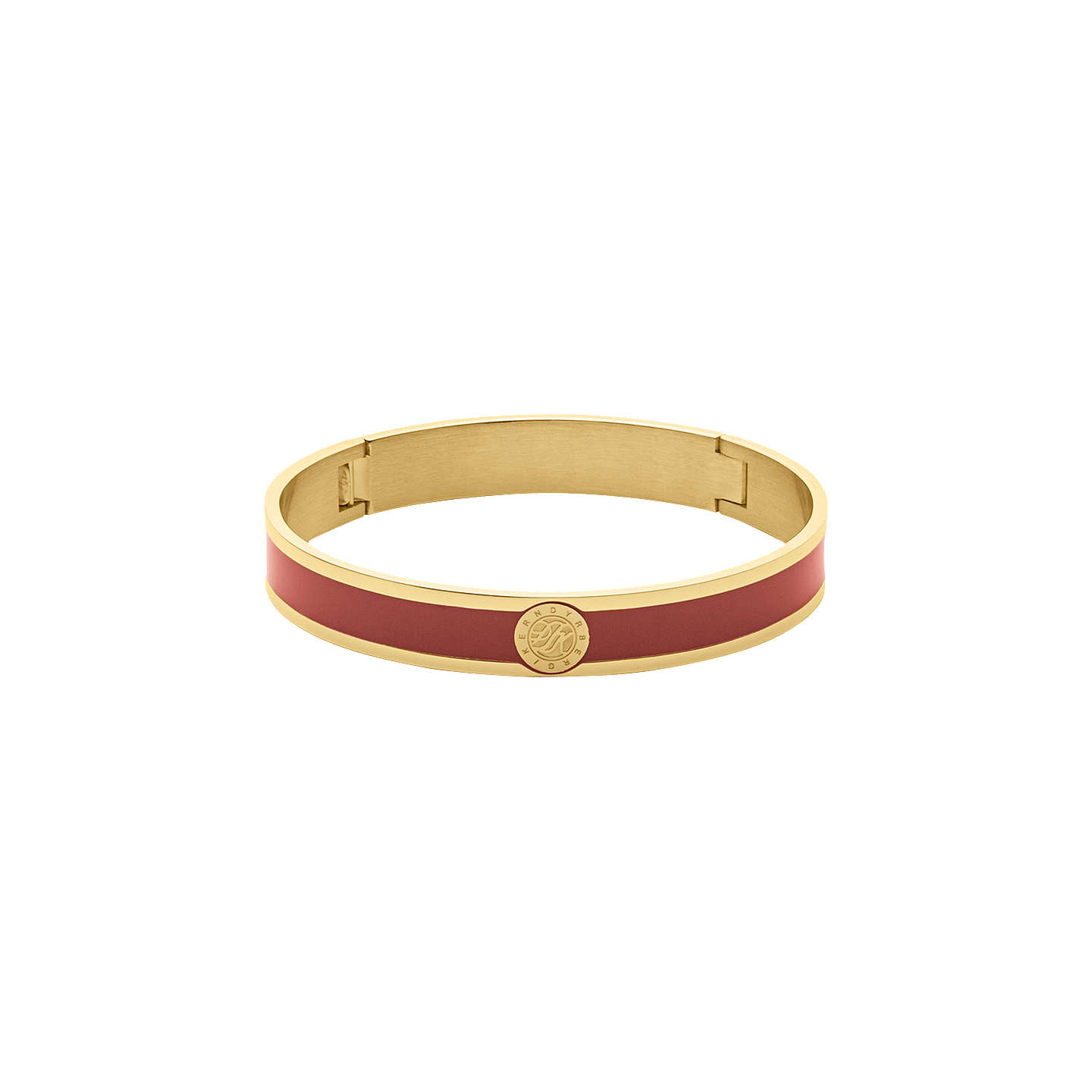 BuyDYRBERG/KERN Enamel Monogram Bangle, Gold/Red Online at johnlewis.com