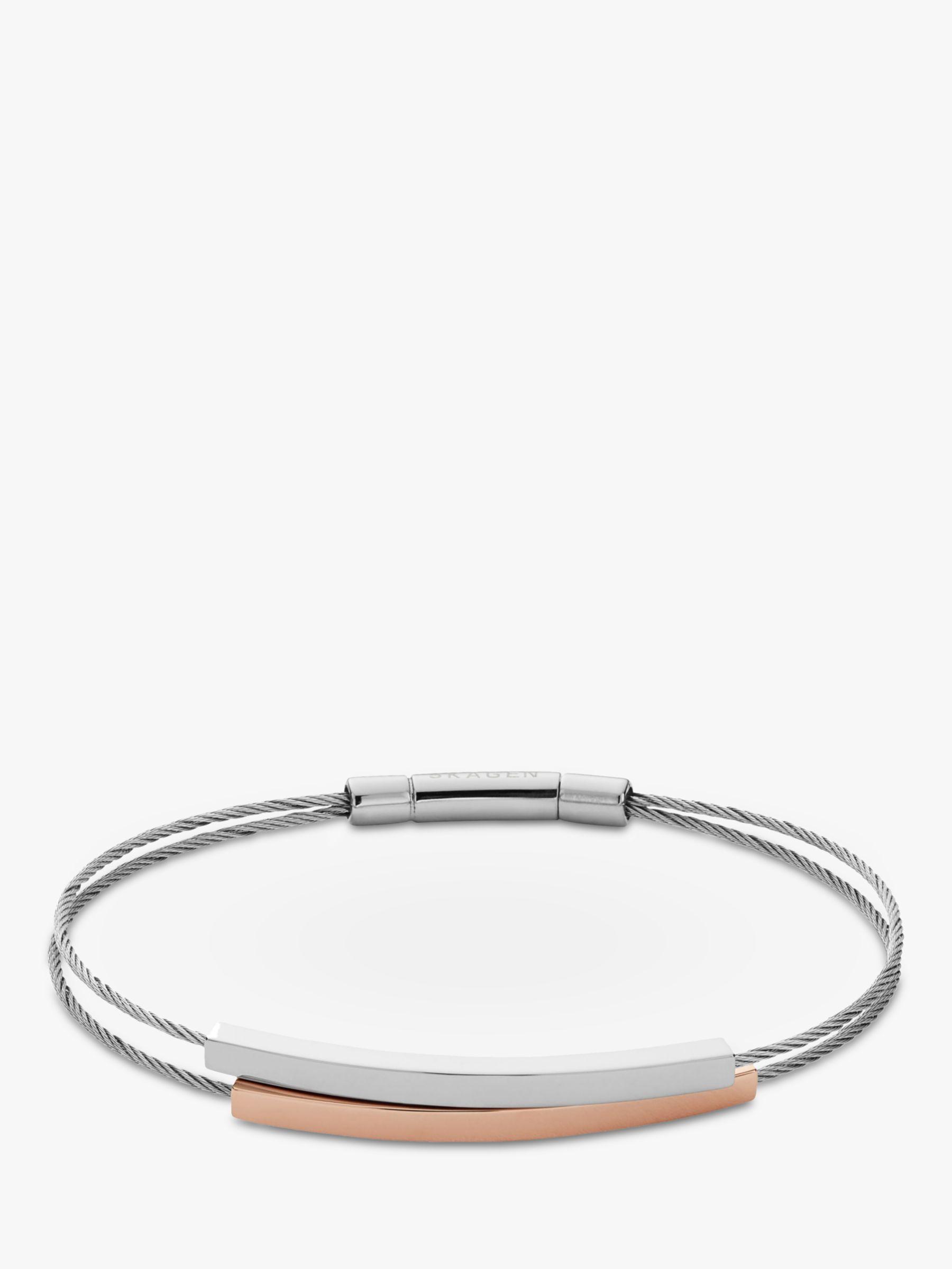 skagen Skagen Elin Double Tube Bracelet, Silver/Rose Gold SKJ1033998
