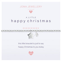 Buy Joma A Happy Little Christmas Star Charm Bracelet, Silver Online at johnlewis.com