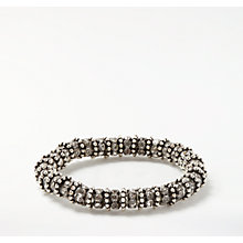Buy John Lewis Glass Pave Stretch Bracelet, Silver Online at johnlewis.com