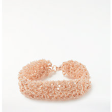 Buy John Lewis Beaded Chain Bracelet, Rose Gold Online at johnlewis.com