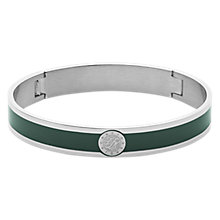 Buy Dyrberg/Kern Enamel Monogram Bangle, Dark Green/Silver Online at johnlewis.com