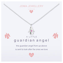 Buy Joma Sterling Silver Plated A Little Guardian Angel Necklace, Silver Online at johnlewis.com