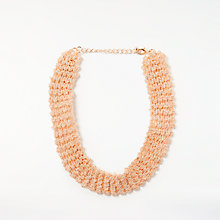 Buy John Lewis Beaded Chain Collar Necklace, Rose Gold Online at johnlewis.com
