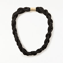Buy John Lewis Sparkle Plait Necklace, Black Online at johnlewis.com