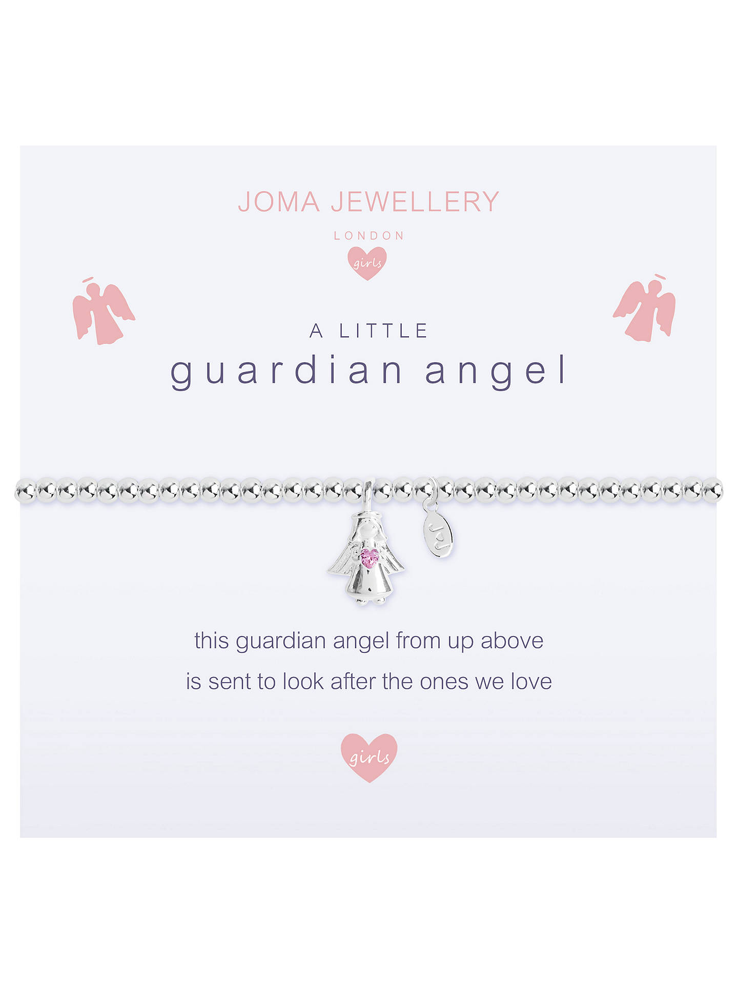 BuyJoma Sterling Silver Plated A Little Guardian Angel Bracelet, Silver Online at johnlewis.com