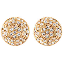 Buy Susan Caplan Vintage 22ct Gold Plated Deco Style Swarovski Crystal Stud Earrings, Gold Online at johnlewis.com