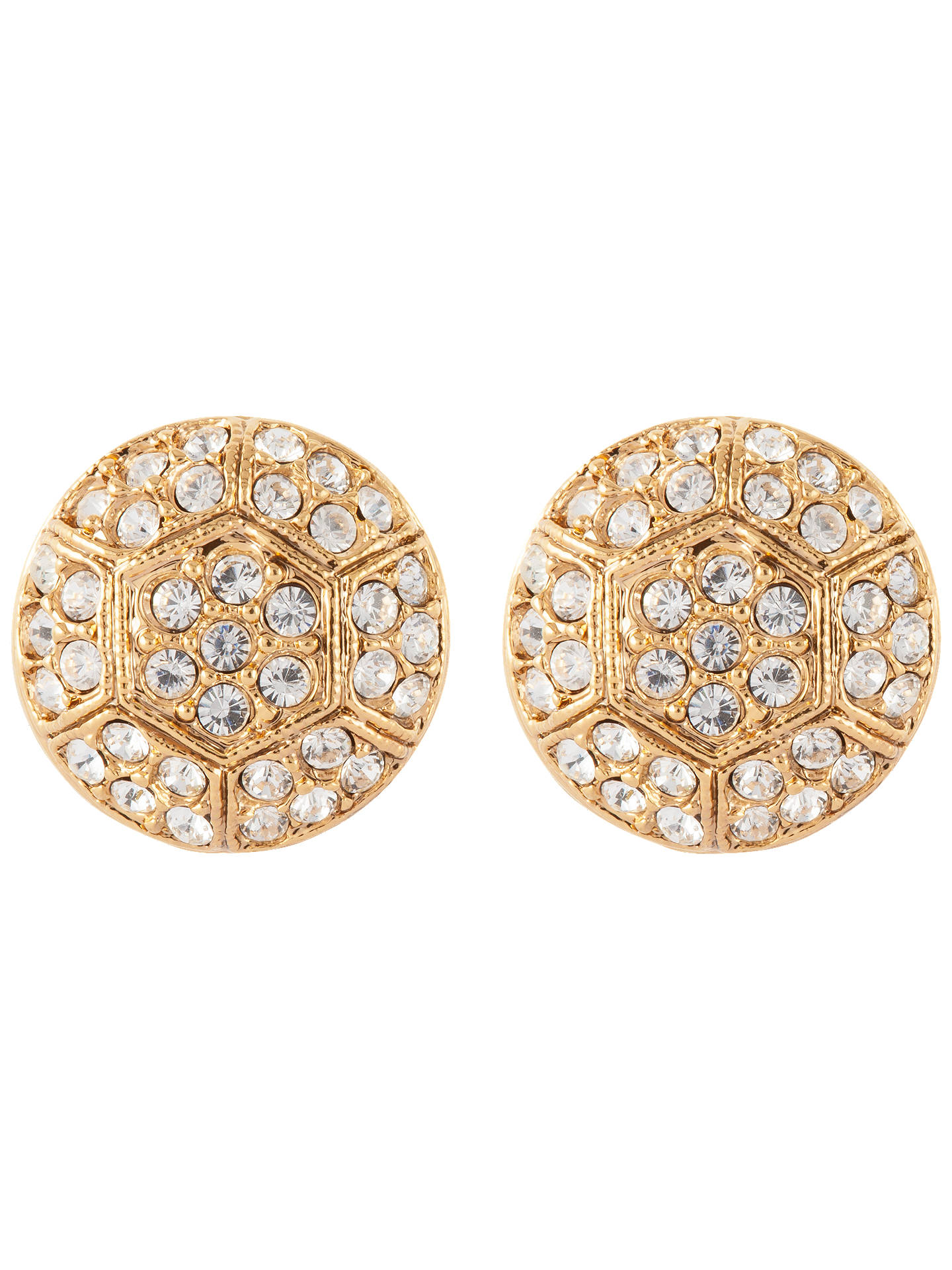 Susan Caplan Vintage 22ct Gold Plated Deco Style Swarovski Crystal Stud Earrings Online At