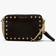 Buy MICHAEL Michael Kors Studded Ginny Leather Cross Body Camera Bag, Black Online at johnlewis.com