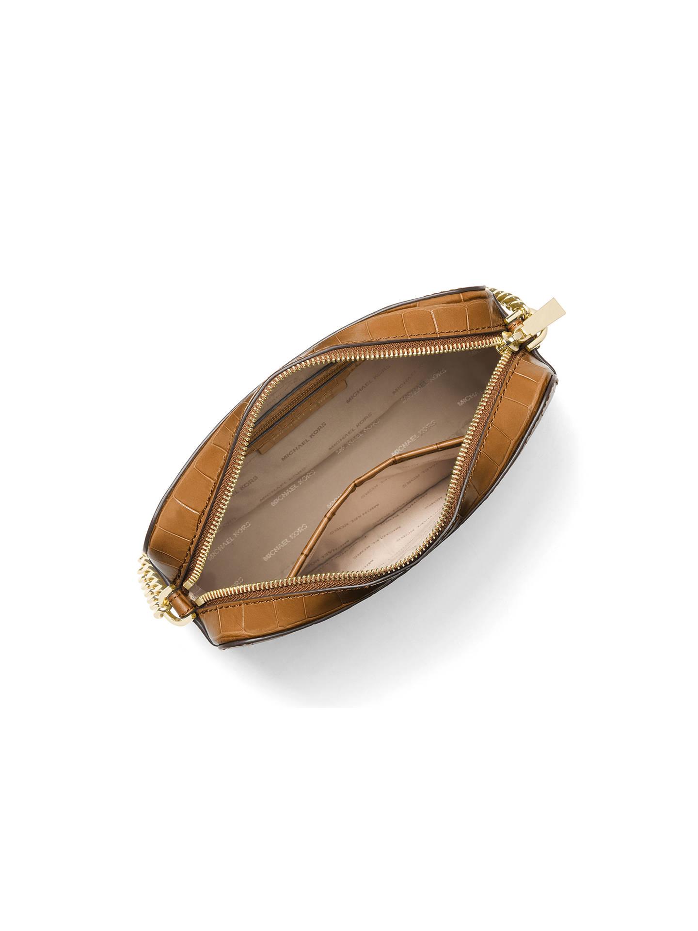 6f76b01dc6ac ... Buy MICHAEL Michael Kors Ginny Embossed Leather Cross Body Camera Bag