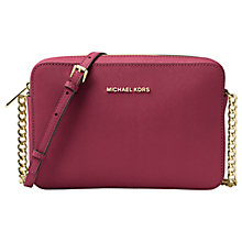 Buy MICHAEL Michael Kors Jet Set Travel East/West Leather Cross Body Bag Online at johnlewis.com