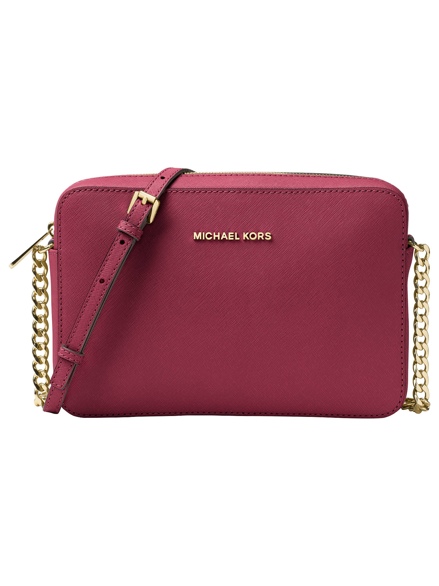 a989b574e97b Buy MICHAEL Michael Kors Jet Set Travel East/West Leather Cross Body Bag,  Mulberry ...