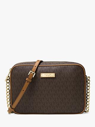 9e3905dcf31 MICHAEL Michael Kors Jet Set Travel East/West Leather Cross Body Bag